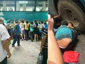 Tin tức trong ngày - TQ: 100 người nâng xe buýt cứu bé gái mắc kẹt
