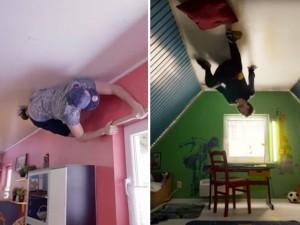 """Video clip chuyện lạ - Clip """"nhảy múa"""" trên trần nhà hút trăm nghìn lượt xem"""