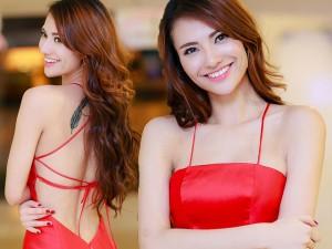 Váy - Đầm - Hồng Quế khoe lưng trần lộ hình xăm ấn tượng