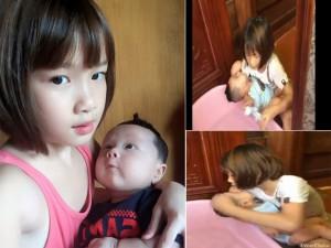 Bạn trẻ - Cuộc sống - Xôn xao clip bé gái 9 tuổi tắm cho em trai 2,5 tháng