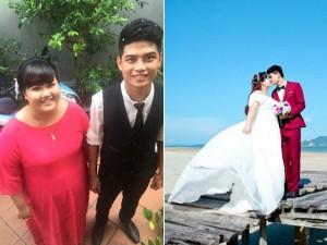 8X + 9X - Ngắm ảnh cưới của cặp đôi hơn nhau 30kg
