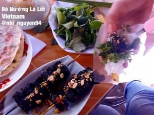 Ẩm thực - Bò nướng lá lốt lọt top món ăn đường phố nổi tiếng TG