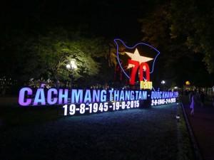 Đường phố Hà Nội lung linh chào đón Quốc khánh 2/9