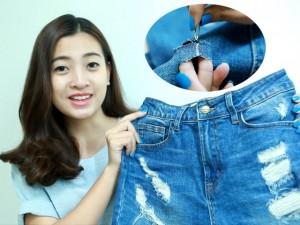 Thời trang - Tự chế jeans rách siêu độc và cá tính dễ như ăn kẹo