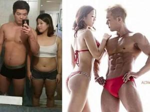 """Tình yêu - Giới tính - Cặp đôi """"mập ú"""" đẹp như người mẫu sau 4 tháng giảm cân"""