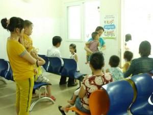 Khoa nhi - Đà Nẵng: Đang gia tăng bệnh tay chân miệng