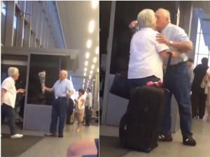 Bạn trẻ - Cuộc sống - Chuyện tình cụ ông thể hiện tình yêu ở sân bay gây sốt