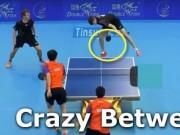 Clip Đặc Sắc - Bóng bàn: Cú đưa bóng qua 2 chân cực kỳ ảo diệu