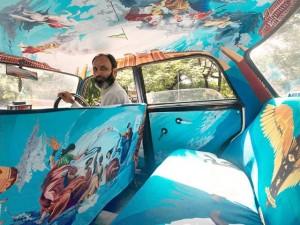 """Chuyện lạ - Ấn tượng với """"taxi nghệ thuật"""" tuyệt đẹp tại Ấn Độ"""