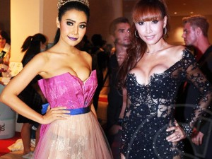 """Thời trang - Hoa hậu, á hậu Thái Lan mặc """"thảm họa"""" lên thảm đỏ"""