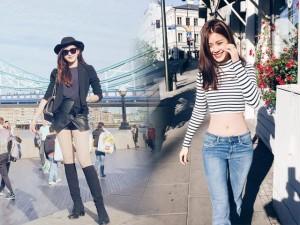 """Thời trang - Đọ street style """"chất lừ"""" của 2 á hậu Việt ở trời Tây"""