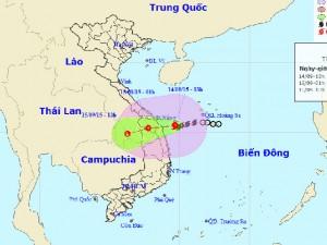 Đêm nay, bão số 3 đi vào Quảng Nam - Quảng Ngãi