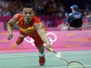 """Các môn thể thao khác - Lin Dan tấn công mãn nhãn xô đổ """"Tòa tháp"""" 1m95"""