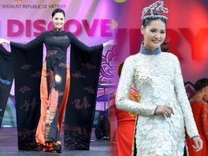 Người mẫu - Hoa hậu - Hoa hậu Hương Giang lộng lẫy khoe áo dài Việt ở Anh