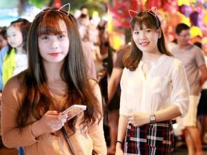 Bạn trẻ - Cuộc sống - Thiếu nữ dạo chơi trên con phố Trung thu đẹp nhất HN