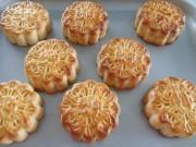 Ẩm thực - Cách làm bánh Trung thu nướng nhân đậu xanh mứt bí