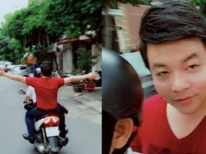 Mặt sau cánh gà - Quang Lê lại bị phản đối vì vi phạm luật giao thông
