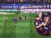"""Video bàn thắng - Neymar sút phạt """"cầu vồng"""" đẹp nhất vòng 3 La Liga"""
