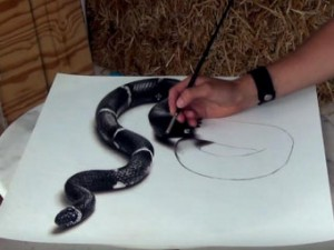 8X + 9X - Chàng trai vẽ tranh 3D sống động gây kinh ngạc