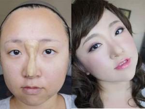 Trang điểm - Choáng với hot girl Đài Loan nâng mũi bằng... bột mì