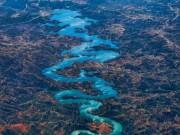 Du lịch - Dòng sông hình rồng ở Bồ Đào Nha gây sốt mạng xã hội