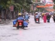 Video An ninh - Đường phố Hải Phòng biến thành sông sau mưa lớn