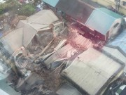 Video An ninh - Clip hiện trường vụ sập nhà cổ ở Trần Hưng Đạo, Hà Nội