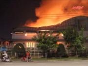 Video An ninh - Cháy lớn ở Đồng Nai, 3.000m2 nhà xưởng bị thiêu rụi