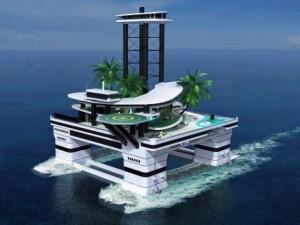 Tài chính - Bất động sản - Lóa mắt với đảo di động trên biển của giới siêu giàu