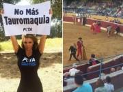 Thể thao - Vũ nữ thoát y bị tóm khi đại náo đấu trường bò tót