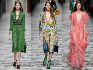 Thời trang - Đẹp nao lòng với thiết kế của Gucci tại Milan FW