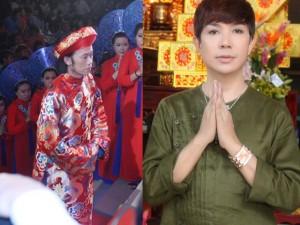 Long Nhật mặc áo lạ trong lễ giỗ tổ do Hoài Linh tổ chức