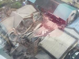 [Mô phỏng 3D] Sập nhà cổ giữa trung tâm Hà Nội