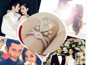 Ngôi sao điện ảnh - Vợ Huỳnh Hiểu Minh khoe nhẫn cưới gắn 73 viên kim cương