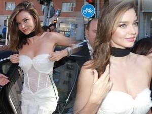 """Thời trang - Miranda Kerr """"xinh lung linh"""" với váy cúp ngực"""
