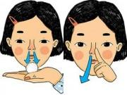 Xì mũi không đúng cách có thể gây viêm xoang, điếc tai