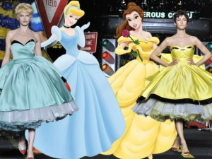 Váy - Đầm - Moschino đưa công chúa Disney đến Milan Fashion week