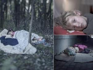 Ảnh: Trẻ em ngủ vạ vật trên hành trình di cư tới châu Âu
