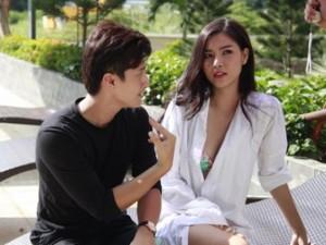 Huỳnh Anh thân mật với tình cũ trên phim trường