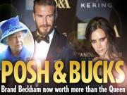 Bóng đá - Gia đình Beckham giàu hơn cả Nữ hoàng Anh