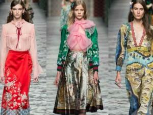 Thời trang - Ảo diệu họa tiết 3D trên váy áo Gucci Xuân Hè 2016
