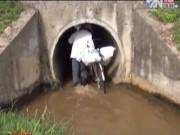 Video An ninh - Clip: Dân chui cống để băng qua đường cao tốc
