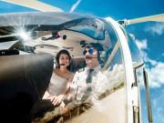 Bạn trẻ - Cuộc sống - Cặp đôi chơi trội thuê phi cơ chụp ảnh cưới
