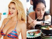 Làm đẹp - Bảng thực đơn béo ngậy trong mơ của các nàng siêu mẫu