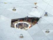 """Thế giới - TQ lắp xong kính thiên văn """"săn"""" người ngoài hành tinh"""
