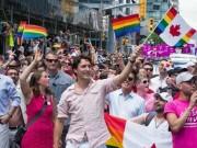 Thế giới - Thủ tướng đẹp trai Canada diễu hành cùng người đồng tính