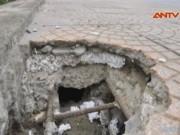 Video An ninh - Hà Nội điều tra vụ bê tông xốp trên cầu vượt