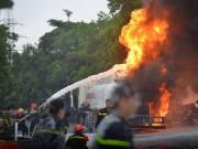 Video An ninh - Clip: Cháy kinh hoàng ở cây xăng Đền Lừ, Hà Nội