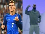 Bóng đá - Tin nhanh Euro 8/7: Griezmann học cách ăn mừng từ ca sĩ
