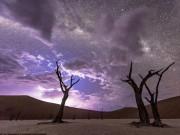 """Thế giới - Video: Trời đêm """"dệt gấm thêu hoa"""" ở sa mạc châu Phi"""